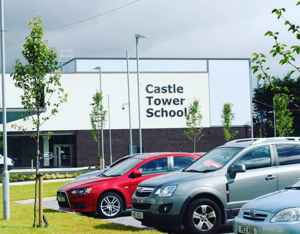 New signage at Castle Tower School, Ballymena